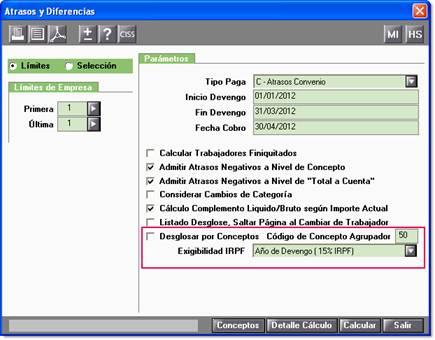 Código concepto agrupador