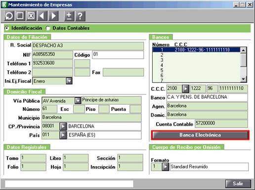 acceso banca electrónica