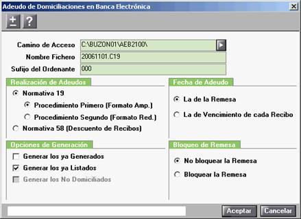 Domiciliaciones en banca electrónica