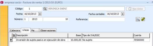 Generar factura