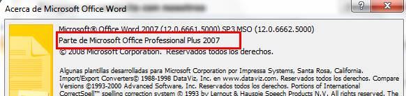 Acerca de Microsoft Word