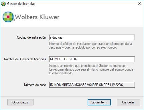 Asistente de instalación Código