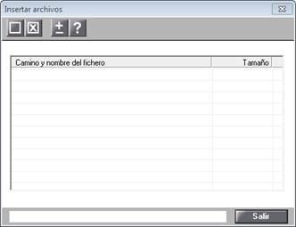 Insertar archivos