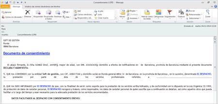 Cuerpo e-mail