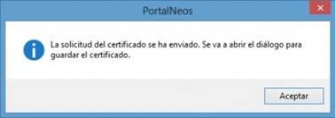 Solicitud certificado SS enviada