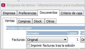 Modelos impresión documentos