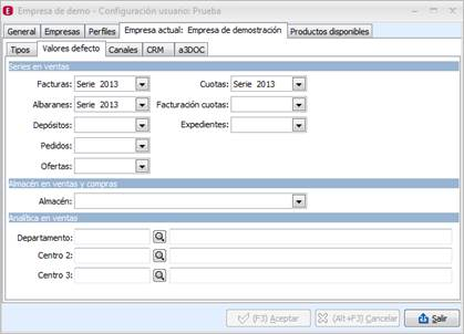 Configurar series documentos