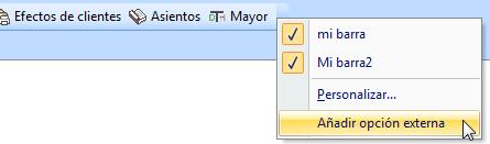 Añadir opción externa