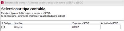 Código empresa a3ASESOR | eco