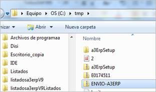 Ubicación fichero