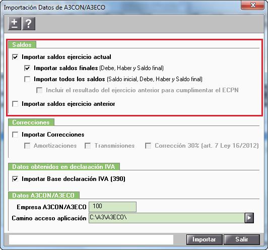 Importación Datos de A3ECO/A3CON