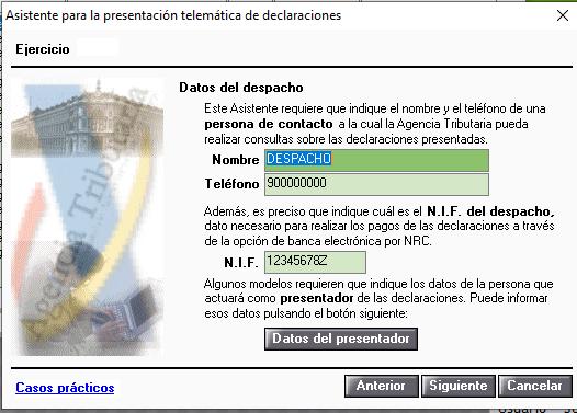 datos despacho presentacion