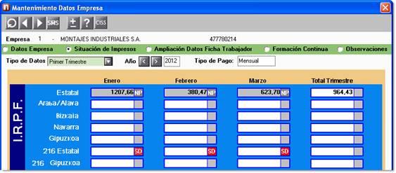 Empresa inactiva para cálculos y listados