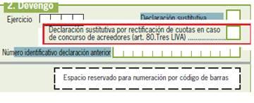 ectificación de cuotas en caso de concurso de acreedores