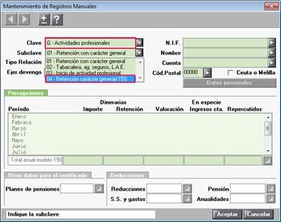 Mantenimiento de registros manuales