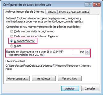 configuracion de datos