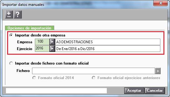 Importar datos manuales Modelo 347