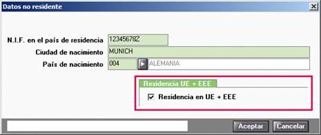 Residencia en UE EEE