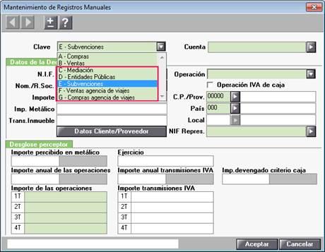 Mantenimiento registros manuales