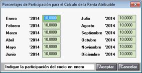 Porcentaje socios atribución de rentas 184