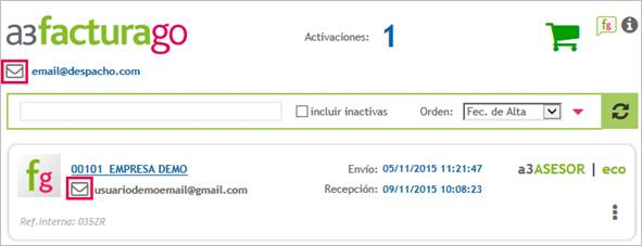 Cambiar email