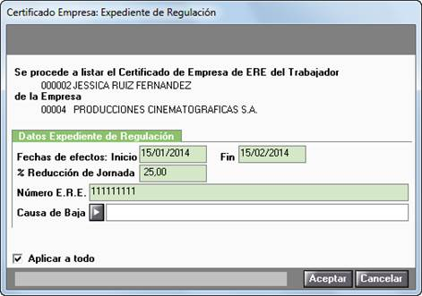 Expediente regulación