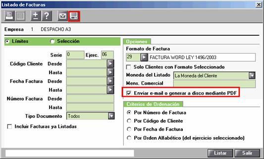 generar o enviar pdf