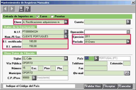Registros manuales