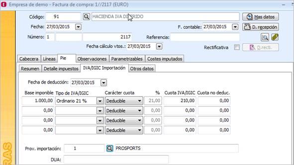 Desglose factura certificado hacienda