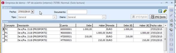 Apunte contable