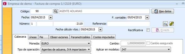 Agente de Aduanas IVA importación