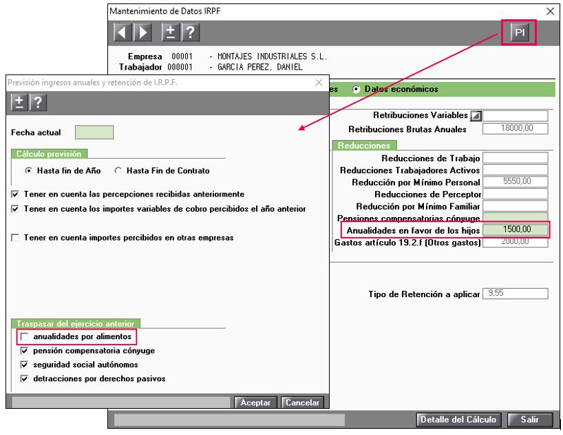 prevision irpf borra datos