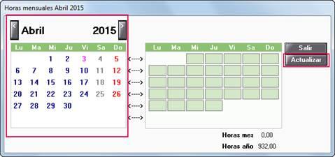 calendario trabajador parcial