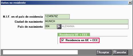 Residencia en UE + EEE