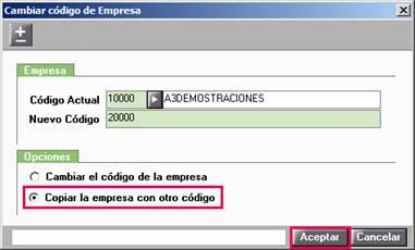 Copiar empresa con otro código