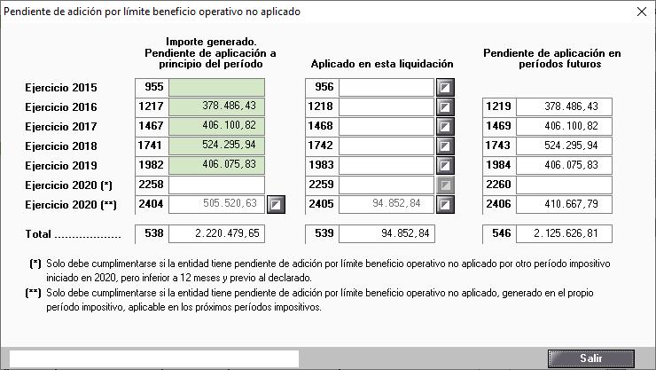 Pendiente de adicion por limite operativo no aplicado