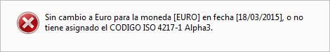 No tiene asignado el CODIGO ISO 4217-1 Alpha3