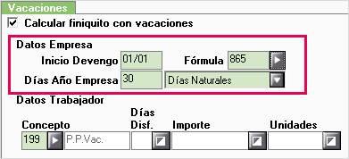 calcular vacaciones