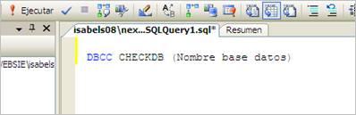 Nombre de la base de datos