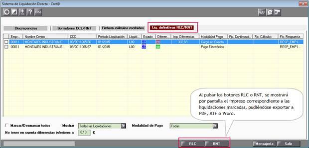 Generación ficheros RLC y RNT