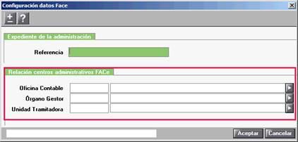 Configuración datos FACe