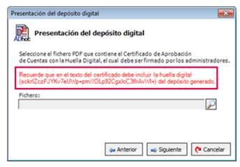 presentación del depósito digital