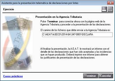 Asistente para la presentación telemática de declaraciones por lotes