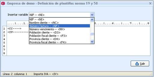 Plantilla Norma 19-58