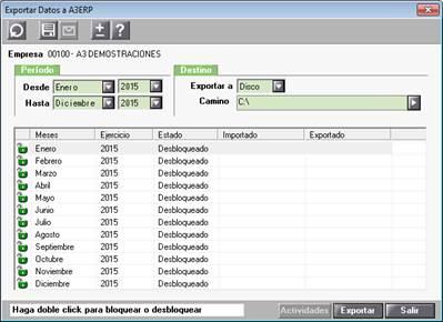 Exportar Datos a A3ERP