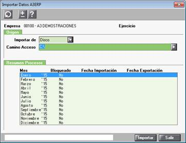 Importar Datos A3ERP