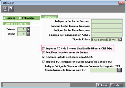 Adaptación Enlace de Facturación con a3ASESOR | ges al Sistema Liquidación Directa