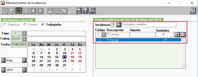 anular un concepto variable en el mes