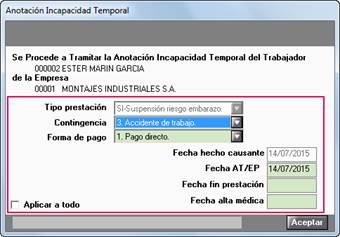 accion afiliacion anotación incapacidad temporal