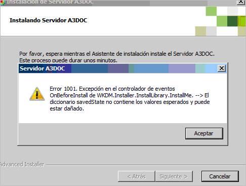 instalando servidor a3doc